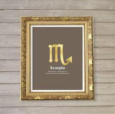 Scorpio Zodiac Horoscope Instant Download by FebruaryLane on Etsy