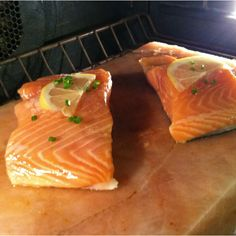 I need a himalayan salt block! - Michelle Salmon broiling on the pink Himalayan salt block. Absolutely the most amazing way to cook. Simply preheat your Salt Rox for 20 minutes and cook right on it. How To Cook Ham, How To Cook Steak, Grilling Recipes, Cooking Recipes, Cooking Ham, Cooking Steak, Salt Block Grilling, Himalayan Salt Block Cooking, Cooking Crab Legs