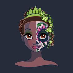 Awesome 'Sugar+Skull+Series%3A+Tiana' design on TeePublic!