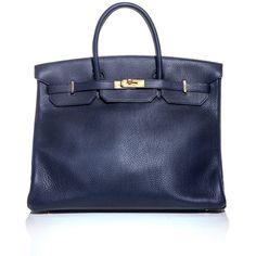 Hermes Vintage Birkin 40 leather bag ($24,155) ❤ liked on Polyvore