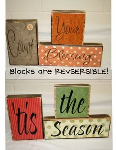 So many possibilities for different 3 word sayings love this idea can keep out for more then one holiday