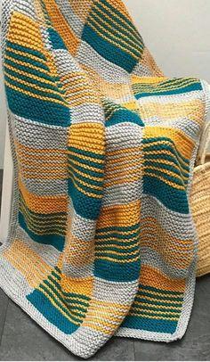 Knitted Squares Pattern, Afghan Crochet Patterns, Baby Knitting Patterns, Knitting Stitches, Knitting Designs, Plaid Crochet, Knit Crochet, Booties Crochet, Blanket Crochet