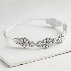White Rhinestone Headband | World Market