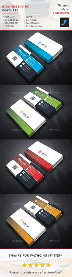 #Business #Card - Business Cards Print #Templates Download here: https://graphicriver.net/item/business-card/19257325?ref=alena994