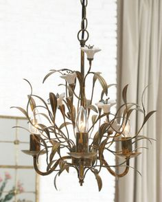 The Monarch flower chandelier