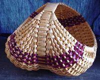 Amish Handmade Large Nest Basket With 28 Inch Frame Bamboo Basket, Egg Basket, Rattan Basket, Weaving Projects, Weaving Art, Hand Weaving, Basket Weaving Patterns, Old Baskets, Willow Weaving