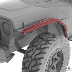 """Jeep Wrangler TJ/LJ/YJ 4"""" Arched Front Flare"""