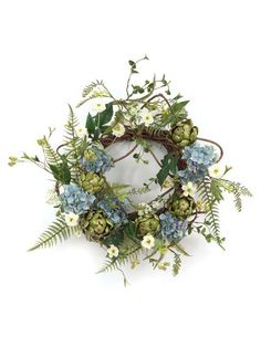 Hydrangea and artichokes. Who woulda thunk it?