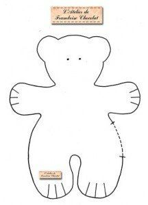 Molde para hacer un oso polar  de peluche ! coshitaa