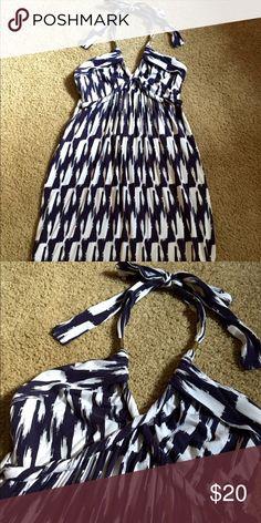 Tart halter dress Blue & white halter dress. Size SM. Dresses Mini