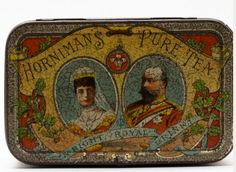 Some Hornimans Tea packaging showed it as luxury. 'A right royal brand!' says this tin  #TeaTrailLondon  via @HornimanMuseum