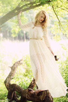 Adore this bohemian dress. Via Free People: Ana's Limited Edition White Summer Dress