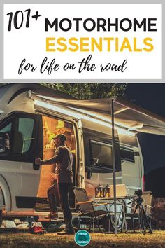 What should you pack in your motorhome or campervan? We made a list of motorhome essentials so you don't have to + a printable packing list to help you remember #motorhomeessentials #motorhomeessentialspackinglist #motorhomeessentialsproducts #motorhomecampingessentials #campervanessentials #campervanessentialslist #essentialsforcampervan Campervan Accessories, Motorhome Accessories, Rv Accessories, Motorhome Living, Motorhome Interior, Motor Home Camping, Motorhome Organisation, Printable Packing List, Camper Van