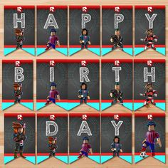 Roblox Unblocked 1234 20 Best Roblox Party Printables Images Roblox Party Printables Custom Thank You Cards