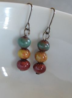 Enameled Earrings Handmade Artisan Jewelry by rubisartnmore