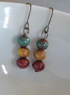Enameled Earrings Handmade Artisan Jewelry by rubisartnmore