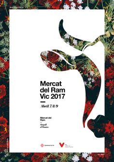 Poster by Xavier Esclusa Trias / Mercado del Ram Vi … – … - Graphic Work Graphisches Design, Cover Design, Layout Design, Logo Design, Sport Design, Print Design, Typography Design Layout, Design Ideas, Cut Out Design