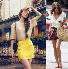 Looks com saia e blusa - Verão