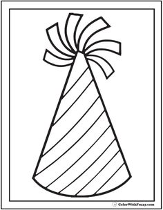 55 birthday coloring pages customizable pdf birthday for Coloring pages of birthday hats