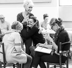 Christine Baranski, Lorna Luft, Anita Dobson & Ruthie Henshall at rehearsals for Follies In Concert