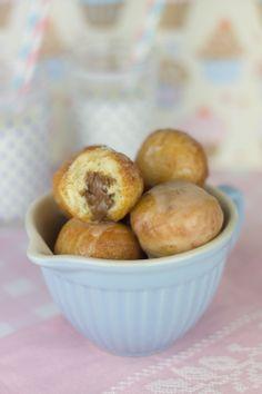 Bolas de donut rellenas de nutella / mermelada