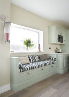 I like this built in kitchen bench with drawers.
