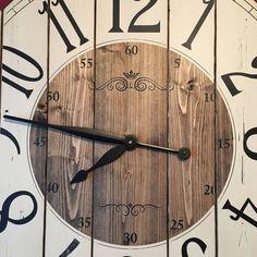 32 Inch Farmhouse Clock Rustic Wall Clock Large Wall Clock