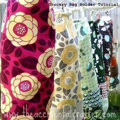 Grocery Bag Holder sewing tutorial - I need one of these so badly! by maxine