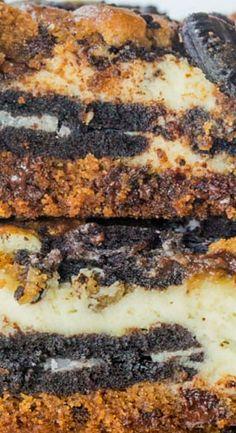 Oreo Chocolate Chip Cheesecake Bars