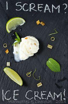 Lime yoghourt ice cream