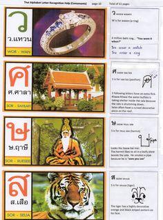 Thai Alphabet  10  Visual Aid to assist memory