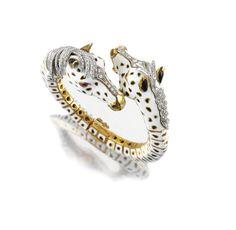 RUBY, ENAMEL AND DIAMOND BANGLE, FRASCAROLO Sotheby's