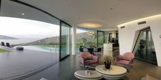 Stunning View From the Living Room  Cascading Lava Flows Inspiring Modern Architecture: Hebil 157 Houses by Aytac Architects