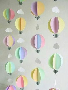 Hot air balloons with clouds - wouldn't it be cute to send a whole bunch of these to your Compassion sponsored child?