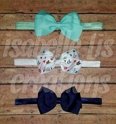 Hey, I found this really awesome Etsy listing at https://www.etsy.com/listing/385405556/mint-navy-and-arrow-printed-hair-bow