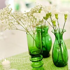 Colour of the Year: Emerald Wedding Details Emerald Wedding Details: Green Wedding Centrepieces – The Knot St. Patrick's Day