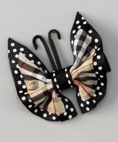 Take a look at this Tan Butterfly Clip by Sweet Treat Bows on #zulily today!