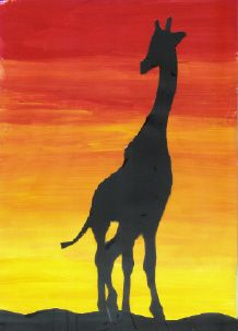 did this, nailed it, but with acrylic. giraffe watercolor