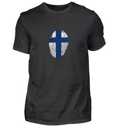 Finnland mit Kreuz Fingerabdruck T-Shirt Basic Shirts, Mens Tops, Fashion, Finger Print, Finland, Moda, Fashion Styles, Fashion Illustrations