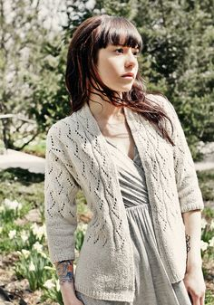 PDF Knitting Pattern: Chic Knits VONICA Lace Cardigan Knitting Pattern