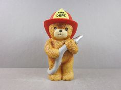 1984 Vintage Collectible Enesco Lucy and Me Teddy Bear Fireman Figurine----loved my Lucy bears!!!