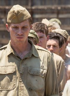 John Fitzgerald - Garrett Hedlund in Unbroken (2014). Really liked this character. Great movie.