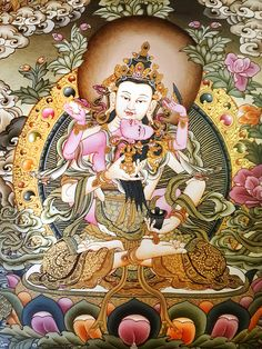 Buddhist and Hindu Sacred Art created by the artist of a lovely community in Nepal. You can commission their artworks as they ship all over the world. Tibetan Mandala, Tibetan Art, Tibetan Buddhism, Buddhist Shrine, Buddhist Art, Thangka Painting, Mandala Painting, Oriental, Buddhist Practices