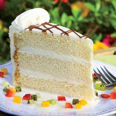 """Tres Leches Cake - Meaning """"Three Milk Cake"""" this Mexican cake is v..."""
