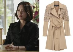 "Wang Ji-Hye 왕지혜 in ""Birth of a Beauty"" Episode 1.  Obzee Nicolas Half Coat 5WMO3WH10000 #Kdrama #BirthOfABeauty 미녀의 탄생 #WangJiHye"