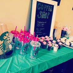 Starbucks themed birthday party. All the details at HomeOfSix blog on Wordpress