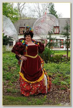 Steampunk dress, victorian style with big  wings and hand made flowers fro panties Corset simplicity 2621 skirt Truly Victorian TV216
