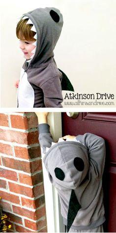 Shark Costume - 25 Best DIY Halloween Costumes for Boys