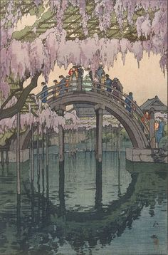 Kameido Bridge, from the series Twelve titles around Tokyo by YOSHIDA Hiroshi