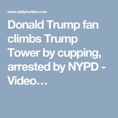 Donald Trump fan climbs Trump Tower by cupping, arrested by NYPD - Video…